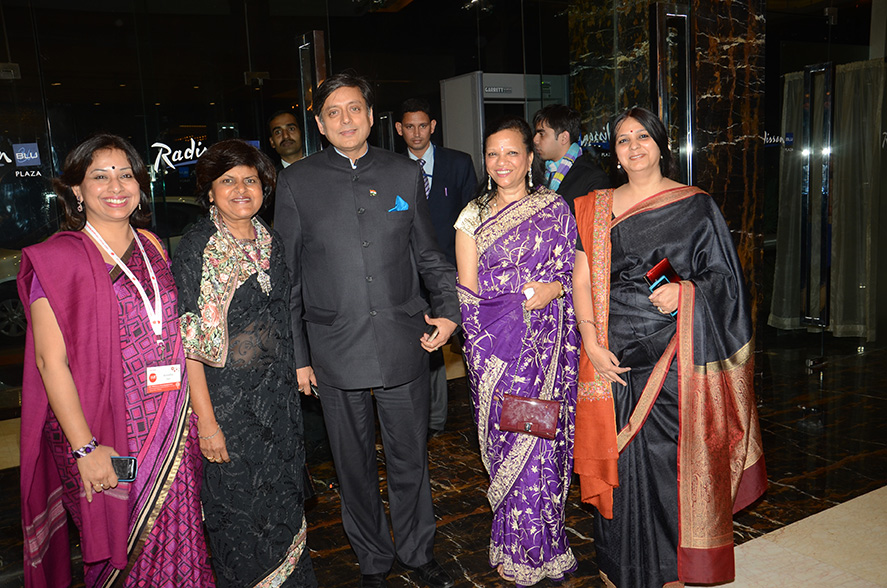 With Mr. Sashi Tharoor